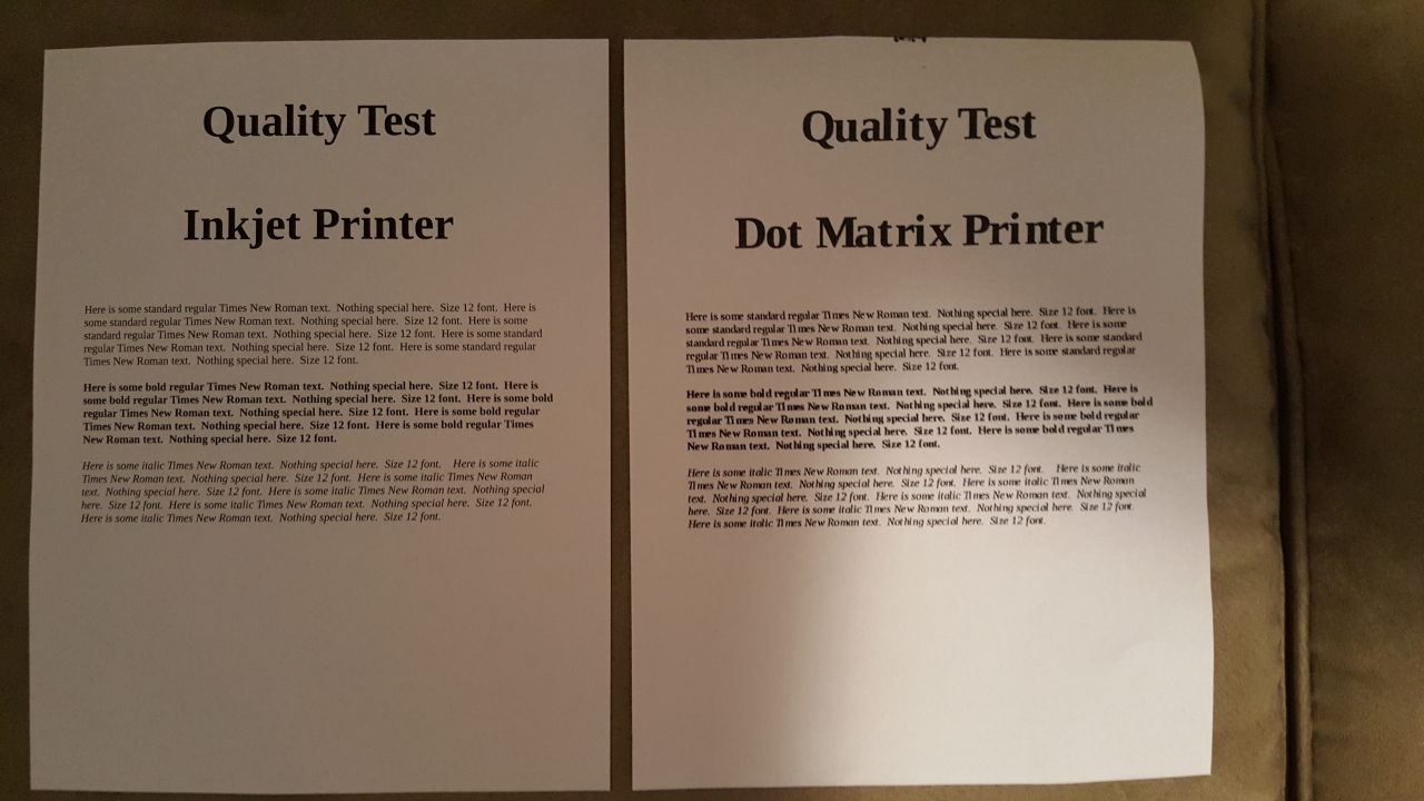 Inkjet vs  Dot Matrix Printers - Ape Apps